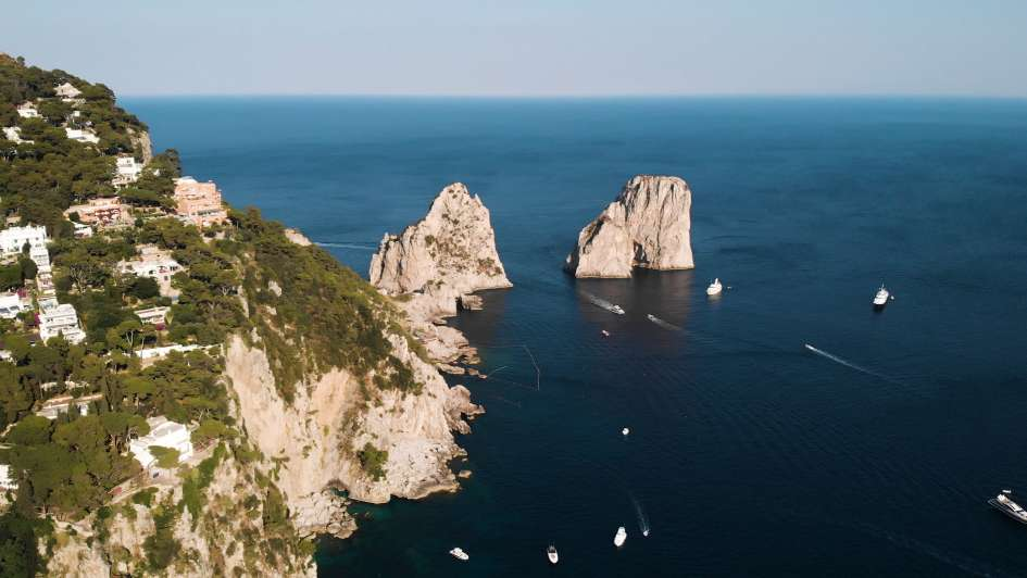 Capri and its famous Faraglioni (stacks)